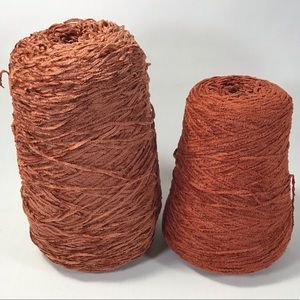 2 Chenille Yarn Cones Weaving Crafting & More
